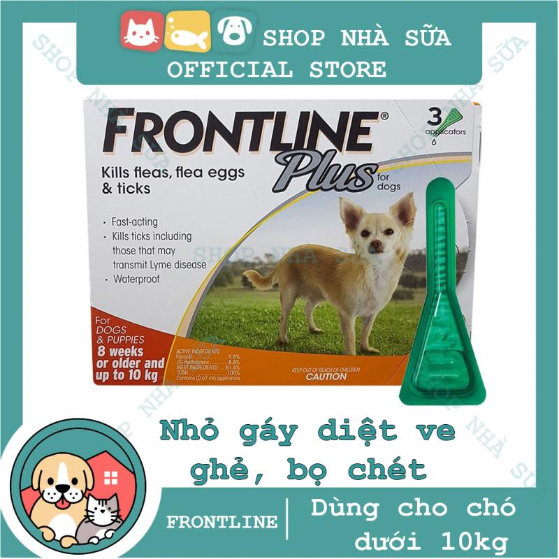 Thuốc Nhỏ Gáy Trị Ve và Bọ Chét Trên Chó  10 kg - FRONTLINE PLUS DOG - 1 tuýp -
