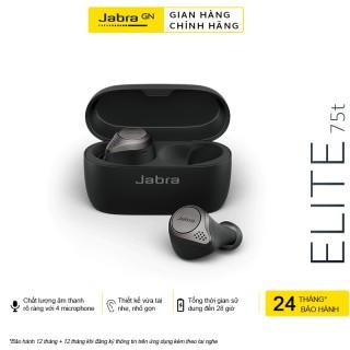 [HCM]tai nghe bluetooth Tai nghe bluetooth Jabra Elite 75T Active siêu Bass chống bụi chống nước đàm thoại thời gian sử dụng lên đến 28H thumbnail