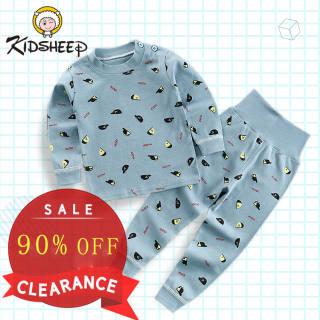 Kidsheep Bộ đồ dài tay trẻ em đồ bé trai đồ bộ trẻ em bé gái Bộ đồ dài tay Bộ đồ ngủ mặc nhà bằng cotton tinh khiết