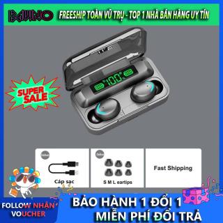 Tai nghe bluetooth không dây F95, tai nghe tws pin 3500 mAh, chống thấm nước, bluetooth 5.0, điều khiển cảm ứng, tai nghe kiêm sạc dự phòng, Tai nghe nhét tai không dây bluetooth mini thumbnail