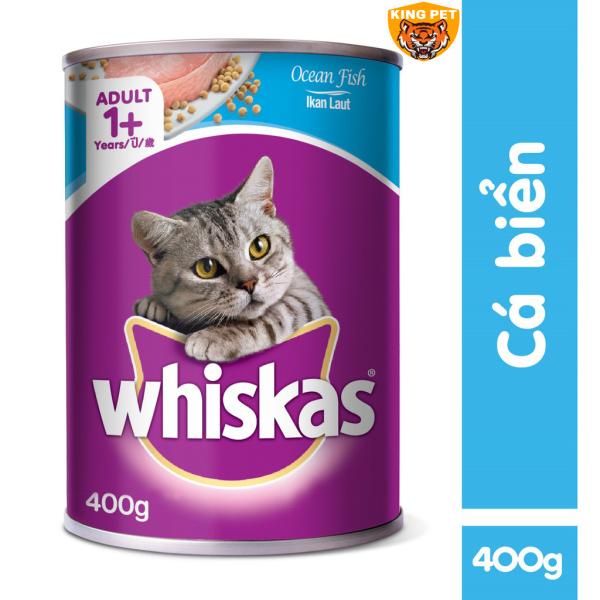 Pate Lon Cho Mèo Trưởng Thành Whiskas 400Gr Đủ Vị