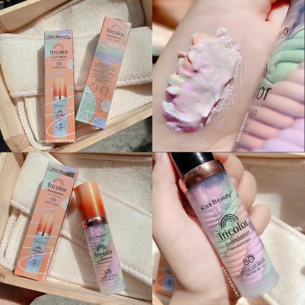 (Hàng Mới Về) Kem lót Makeup Base Kiss Beauty Tricolo giá rẻ