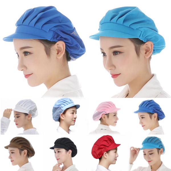 REALVISION Waiter Workshop Restaurant Breathable Hotel Kitchen Workshop Hat Elastic Mesh Hat Dust Caps