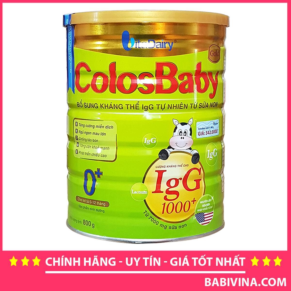 Sữa Non ColosBaby Gold Số 0 800g 1000IgG Cho Trẻ Từ 0-12 Tháng Tuổi