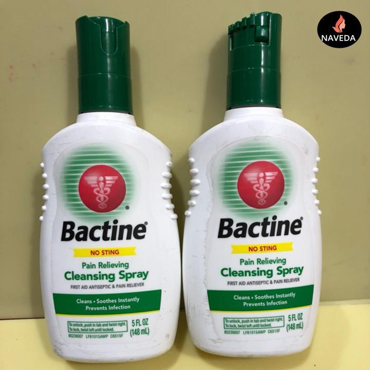 Bình xịt tê, vệ sinh da Bactine