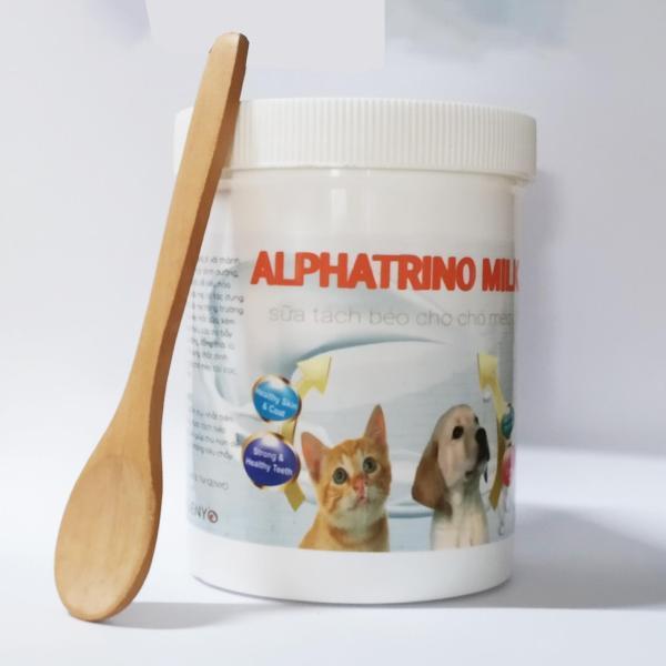 Sữa tách béo cho chó mèo không tiêu chảy - Alphatrino Milk 100g