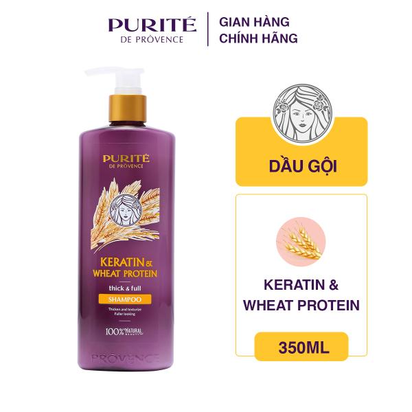 Dầu Gội Dưỡng Tóc Purite Keratin và Wheat Protein - 350ml nhập khẩu