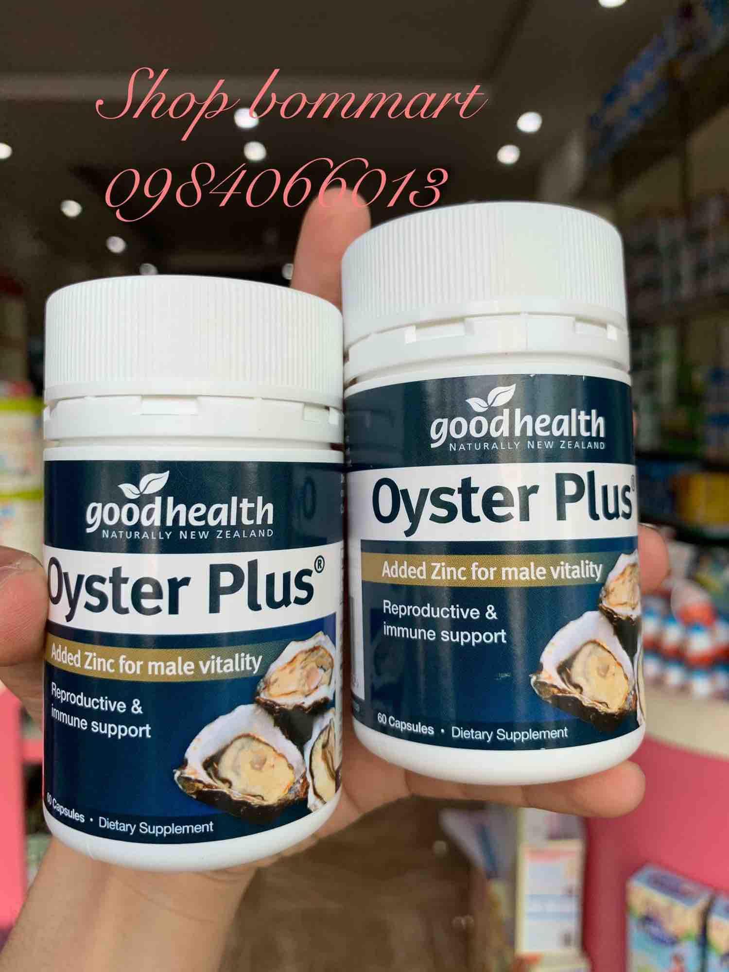 Tinh chất hàu tươi oyster plus úc tăng cường sinh lý hộp 60 viên
