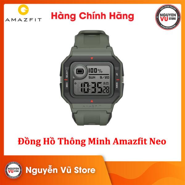 Đồng hồ thông minh Huami Amazfit Neo Blue - Hàng Chính Hãng