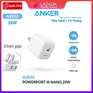 [HCM]Cốc Sạc Nhanh Anker A2632 A2149 iPhone PD 20W(Chân gập)Cáp sạc nhanh A8617 USB-C to LightningCho iPhone 12 Pro 11 XS X 8P 8 Vâng thumbnail