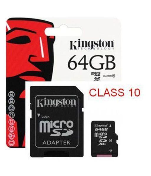 Thẻ nhớ 64GB Kingston Microsd Class 10 - bảo hành 5 năm!!!