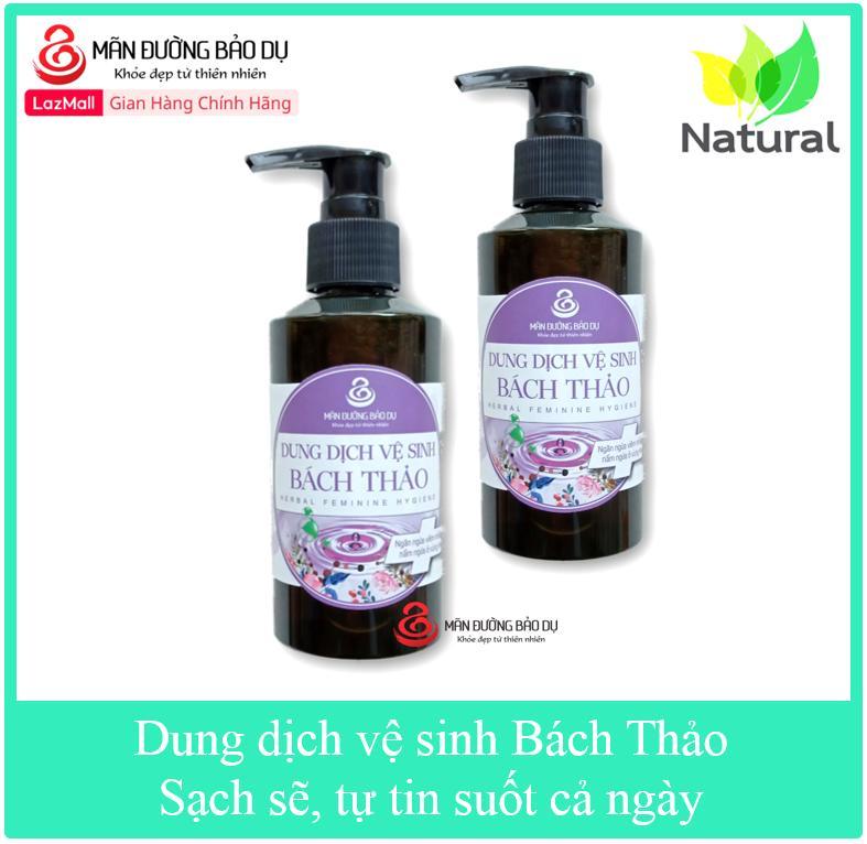 Combo 2 chai Dung dịch vệ sinh Bách Thảo chiết xuất từ thiên nhiên ngăn ngừa nấm ngứa vùng kín cao cấp