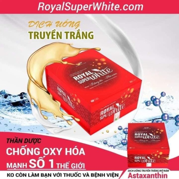 {Mua 3 tặng 3}Combo 3 Dịch Uống Truyền Trắng ROYAL Super White Minh Lady Beauty (Tẳng 1 hộp, 1 com bo dưỡng da)
