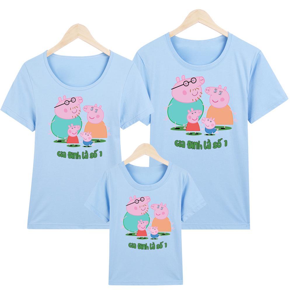 YANO áo thun nam nữ - áo gia đình in hình peppa pig - GĐM6 - Giá Trên là giá cho 1 chiếc áo