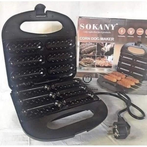 Máy làm bánh Hotdog 💖𝑭𝒓𝒆𝒆𝑺𝒉𝒊𝒑💖 Máy nướng bánh Sanwith Hiệu Sokany KJ-110