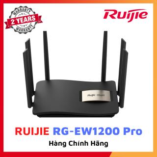 Bộ phát wifi RUIJIE RG-EW1200G PRO 1300M 802.11ac Wave2 Cổng Gigabit băng tần kép đầy đủ Ăng-ten tăng cao 6dBi CPU siêu phân luồng lõi kép mạnh mẽ Reyee Mesh Bảo hành 24 tháng thumbnail