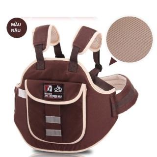 Đai đi xe máy an toàn cho bé từ 1-5 tuổi - Bao lưng được làm bằng vải nhẹ nhàng, thông thoáng, chắc chắn rất an toàn thumbnail