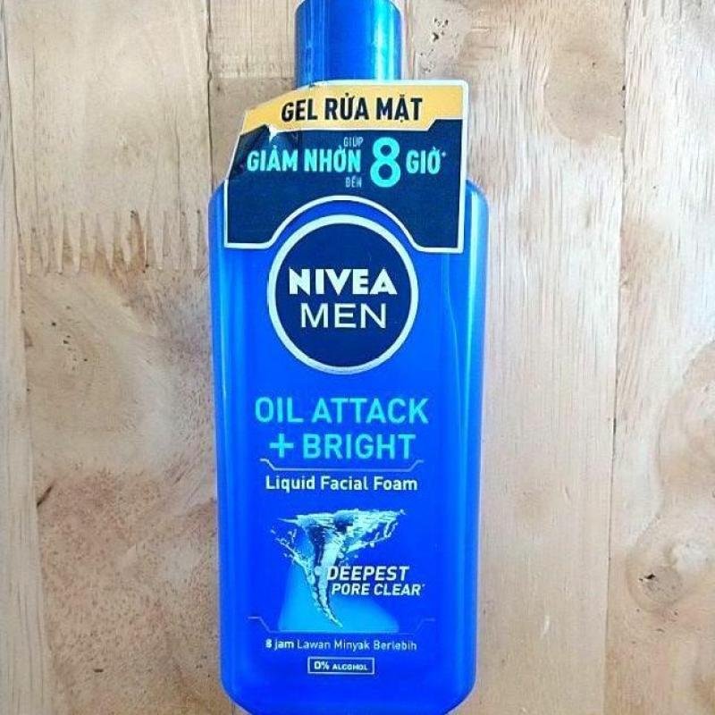 [Thanh lý HSD 05/2020] Gel Rửa Mặt Nivea Men Oil Attack Giảm Nhờn 150ml