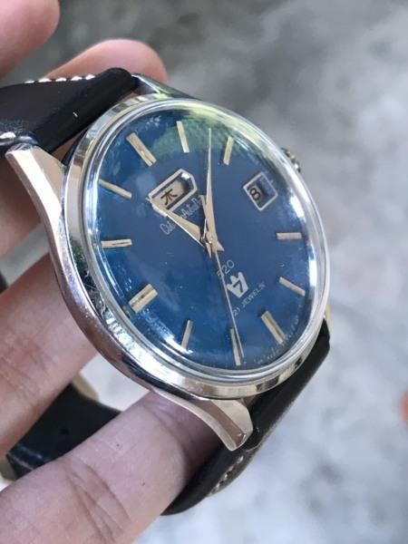 [HCM]Đồng hồ nam CITIZEN AUTO DATER 7 cơ cổ - mặt xanh - Nhật
