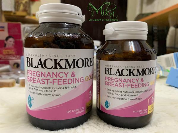 Vitamin tổng hợp cho Bà bầu - Pregnancy & Breast - Feeding Gold Blackmores 60 viên