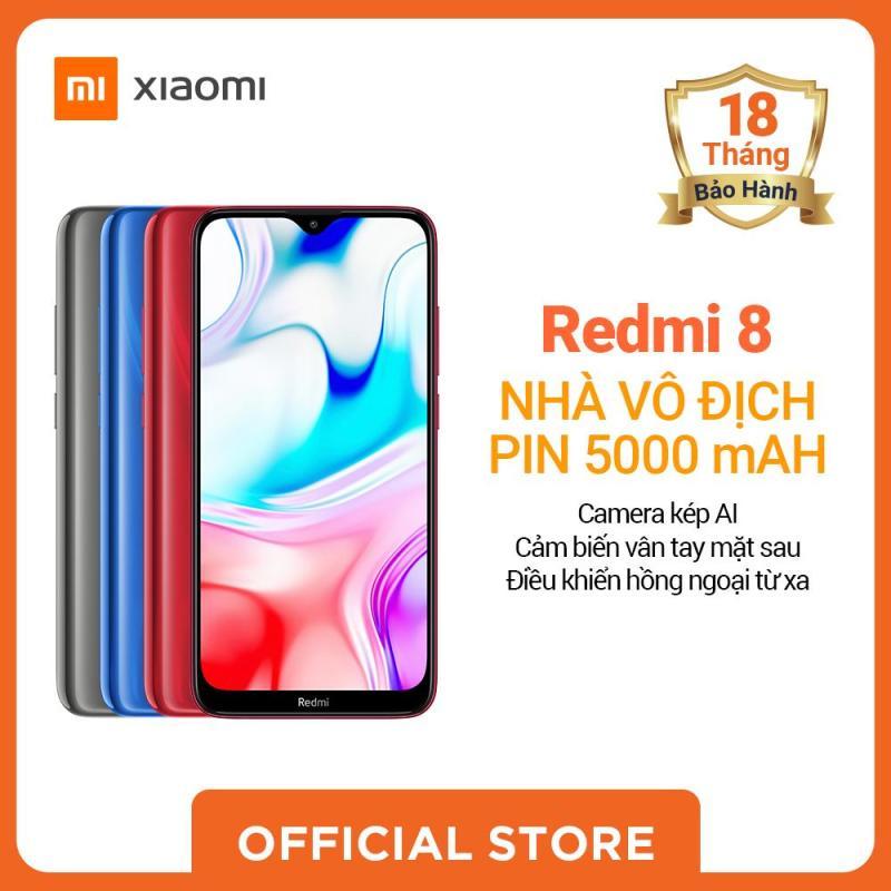 [XIAOMI OFFICIAL]Điện thoại REDMI 8, màu Đen/Xanh/Đỏ, Hàng chính hãng,Bảo hành điện tử 18 tháng
