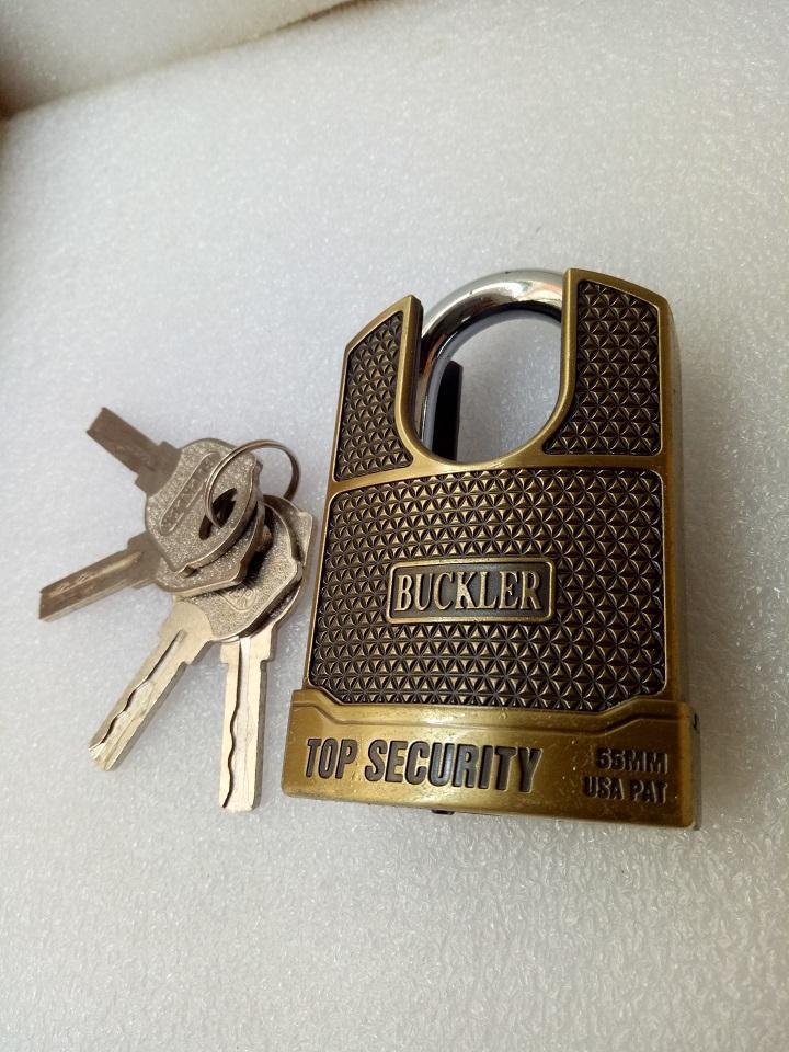 Ổ khóa nhà, khóa cổng chống cắt Buckler 55mm
