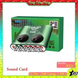 SOUND CARD KX3 DÙNG CHO CÁC MIC THU ÂM HOẶC MIC LIVESTREAM CÓ THỂ KARAOKE thumbnail
