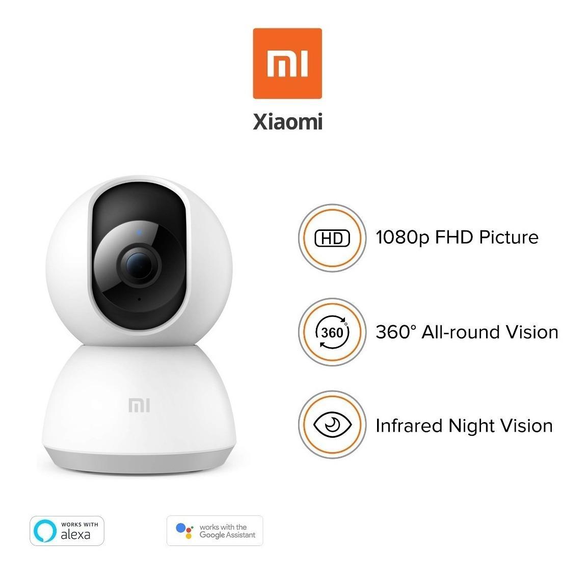 Camera IP Xiaomi Mi Home 360° 1080P (Trắng) - Hàng Chính Hãng DigiWorl , Xiaomi Mi Home 360 1080P Bản Quốc Tế Có Giá Cực Kỳ Tiết Kiệm