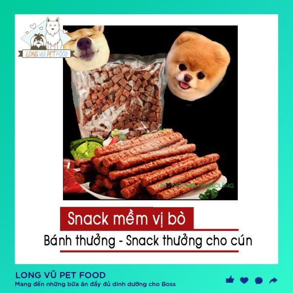 Thức ăn cho chó vị bò snack – Bánh Thưởng Cho Chó Vị Bò 1 thanh - Long Vũ Pet Food