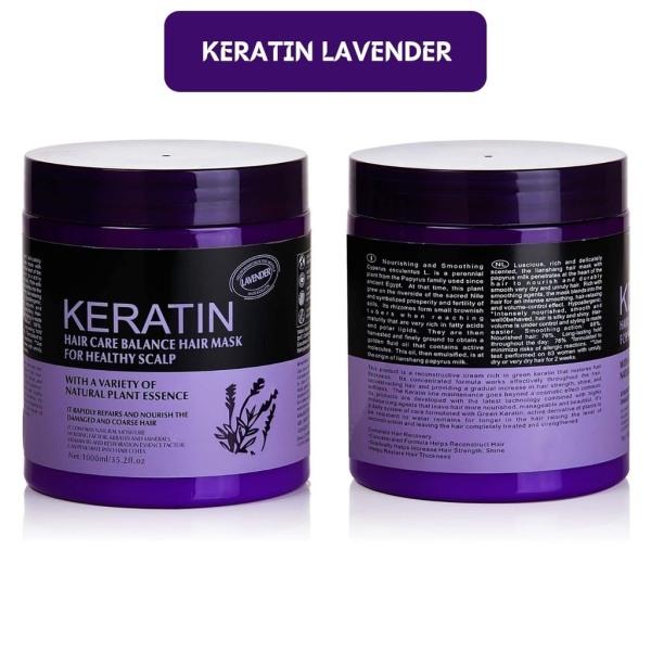 KEM Ủ TÓC KERATIN COLLAGEN HÀN QUỐC 1000ML dung tích lơn và siêu mềm mượt, phục hồi nhanh cho mọi loại tóc, mùi thơm nhẹ nhàng dễ chịu LAVENDER