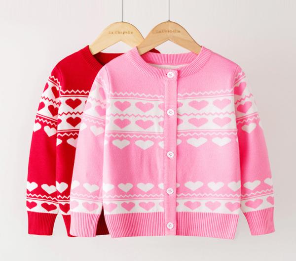 Giá bán Áo len bé gái, áo len cardigan 2 lớp mền mịn, dày dặn