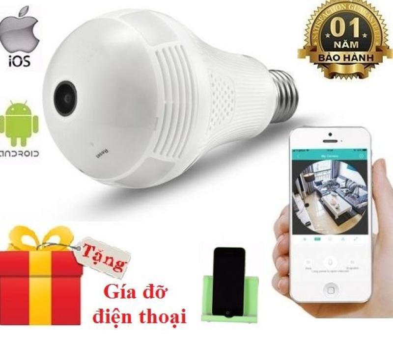 Camera wifi bóng đèn HD-1.3MP xem 360 độ và phát sáng