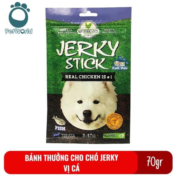 Bánh thưởng cho chó Jerky 70gr - Vị cá