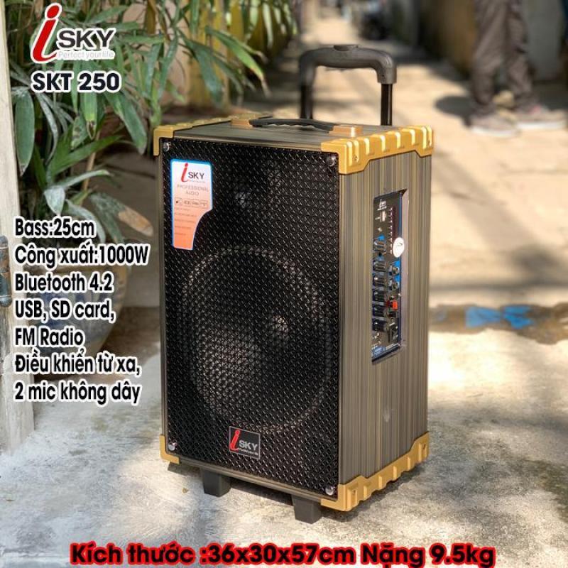Loa kéo di động - Loa kéo Karaoke - Loa kéo giá rẻ - Loa kéo đa năng cỡ lớn cao cấp công suất 1000W Isky SKT-250 Siêu bass 25cm ( 2.5 tấc ).bluetooth.karaoke.nghe nhạc.kẹo kéo.mini.bass mạnh.giá rẻ.công suất lớn.led 7 màu.gia đình.cỡ lớn