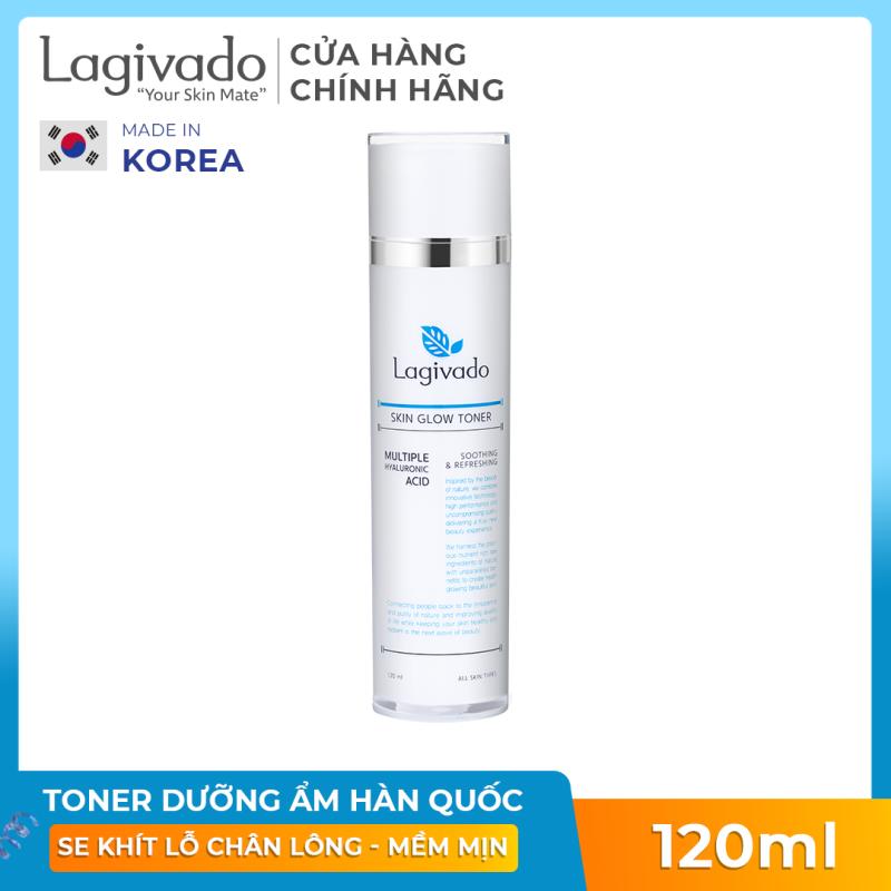 Nước Hoa Hồng cân bằng da, se khít lỗ chân lông Hàn Quốc Lagivado Skin Glow Toner 120 ml giá rẻ