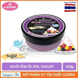 Muối Tắm A Bonne Sữa Chua Và Chiết Xuất Ốc Sên Tẩy Tế Bào Chết, Làm Trắng Da A Bonne Snail Yogurt Shower Salt Sugar 350g thumbnail