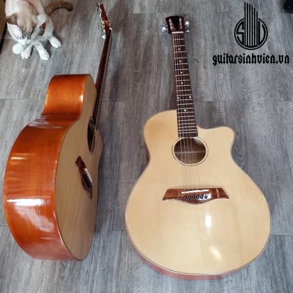 Đàn guitar acoustic SV1 có ty chống cong cần - Tặng 6 phụ kiện - Bảo hành 1 năm - Đàn acoustic tập chơi