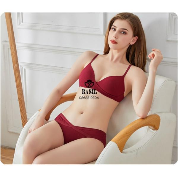 Nơi bán Bộ đồ lót BS01 Basil nữ cotton mềm nhẹ không gọng tôn ngực