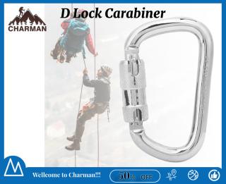 Móc Khóa Carabiner hình chữ D 45kn bằng thép không gỉ 40cr dành cho phụ kiện an toàn leo núi ngoài trời thumbnail