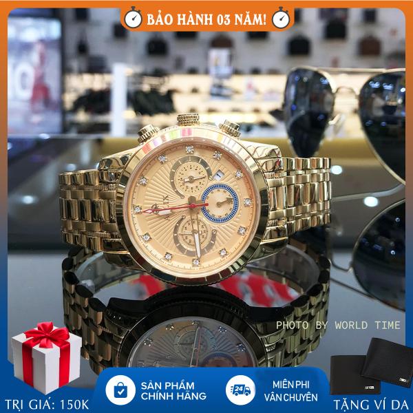 Đồng hồ nam Aolix AL7049G chronograph full hộp, thẻ bảo hành 3 năm, kính sapphire chống xước chống nước, dây thép 316L bán chạy