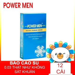 Bao cao su Powermen INVI 0.03 Frozen Hộp 12 chiếc thumbnail