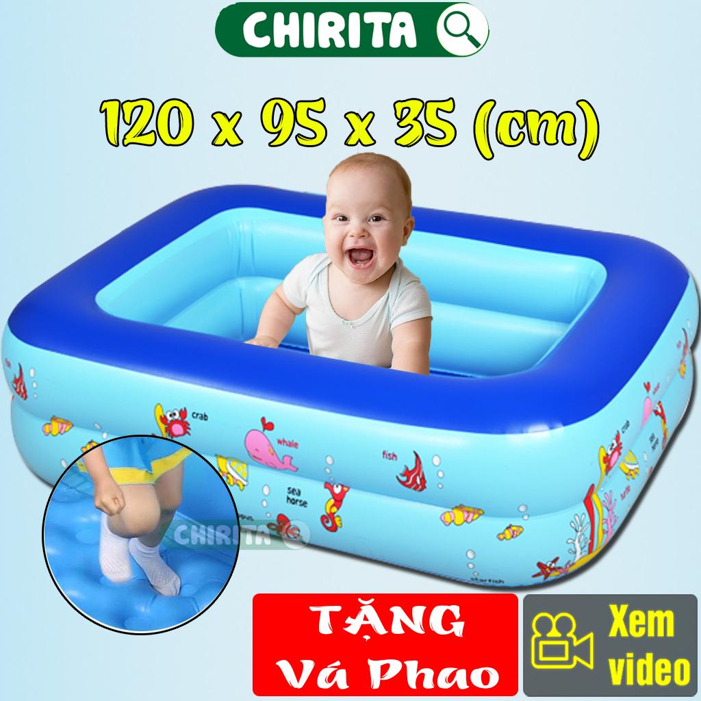 Bể Bơi Cho Trẻ 2 Tầng Kích Thước 1M20 LOẠI DÀY -Hồ Bơi Cho Bé Chất Lượng Cao Swimming Pool