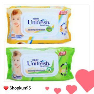Khăn ướt Unifresh 80 tờ thumbnail
