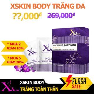 Bộ đôi dưỡng trắng da toàn thân XSKIN Whitening Body Bath gồm Saffron và Kem ủ trắng giúp da sáng mịn và chống lão hóa thumbnail