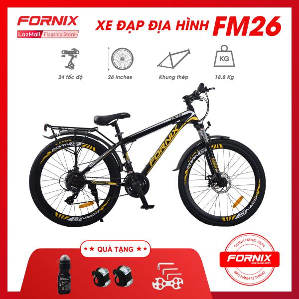 Mua Xe đạp địa hình thể thao Fornix FM26- Vòng bánh 26 (KÈM SÁCH HƯỚNG DẪN) - Bảo hành 12 tháng + Tặng( kèm bộ lắp ráp- Đèn led trước sau - Bình nước)