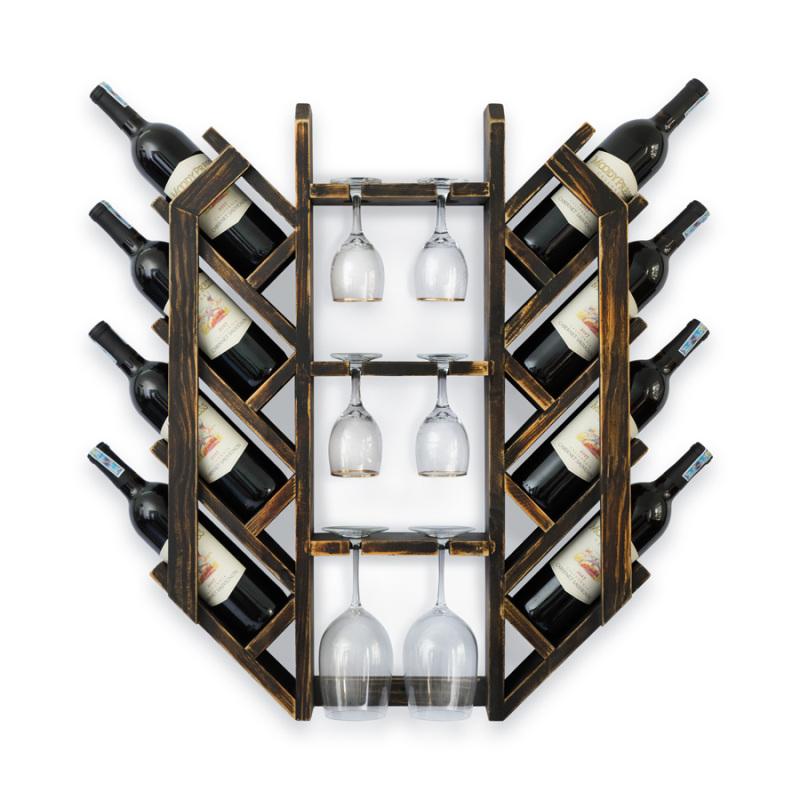 Kệ Rượu Treo Tường KR22