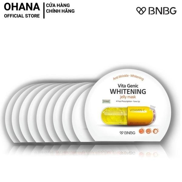 Combo 10 Mặt Nạ Giấy BNBG Whitening Dưỡng Trắng Và Làm Đều Màu Da BNBG Vita Genic Whitening Jelly Mask 30ml x10 (Vàng)