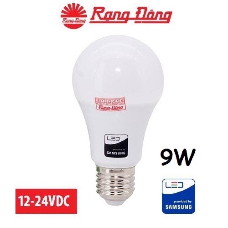 [Lấy mã giảm thêm 30%]Bóng đèn 12V - 24V LED 9W E27 Rạng Đông chipled Samsung Mới