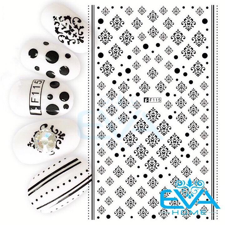 Miếng Dán Móng Tay 3D Nail Sticker Tráng Trí Hoa Văn Hoạ Tiết Hình Học F115 tốt nhất