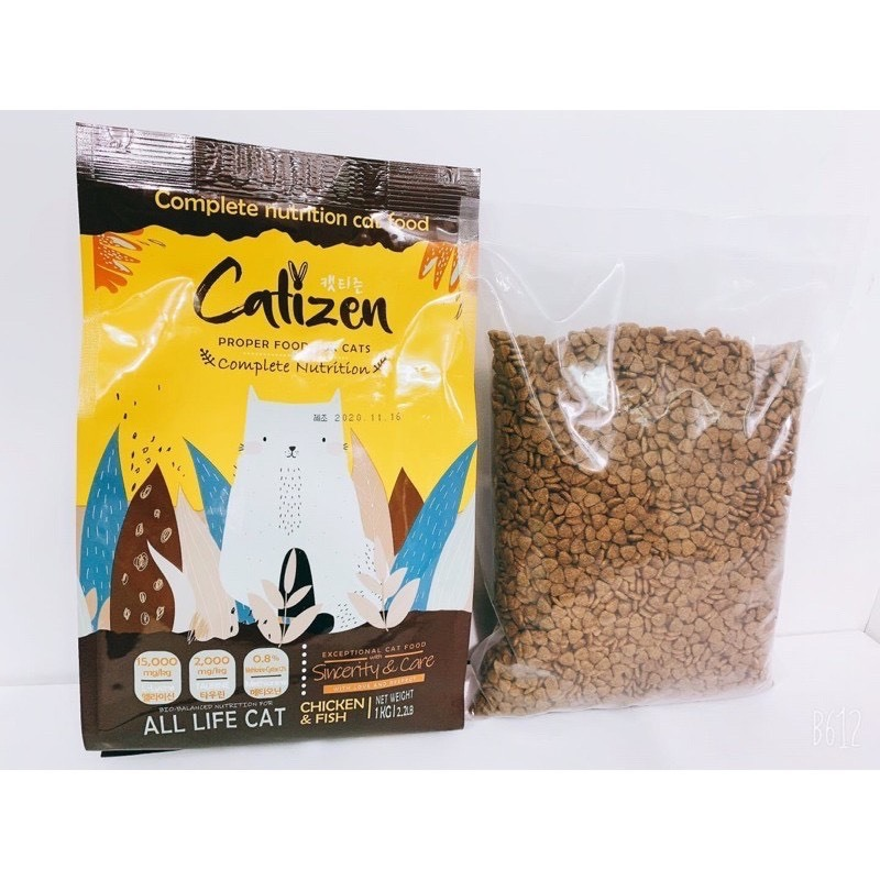 Hạt khô cho mèo Catizen Hàn Quốc